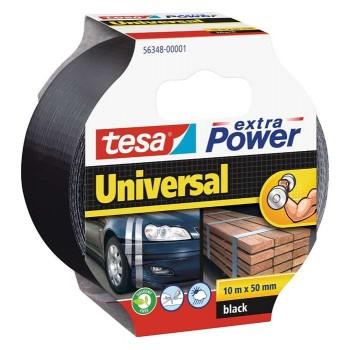 Fabric film Black 10m x 50mm Tesa Extra Power Universal 56348